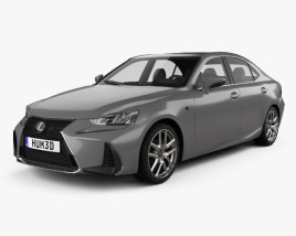 Lexus IS (XE30) 200t F Sport 2017 3D model