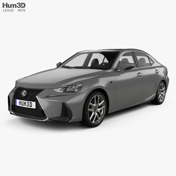 Lexus Sport: Lexus IS (XE30) 200t F Sport 2017 3D Model