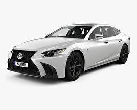 Lexus LS (XF50) F Sport with HQ interior 2018 3D model