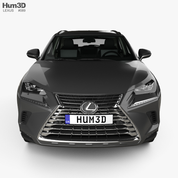Lexus NX Hybrid With HQ Interior 2017 3D Model