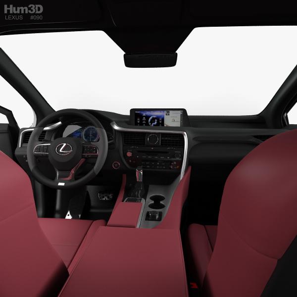 2016 Lexus Price: Lexus RX F Sport With HQ Interior 2016 3D Model