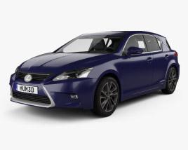 Lexus CT Hybrid Prestige 2018 3D model