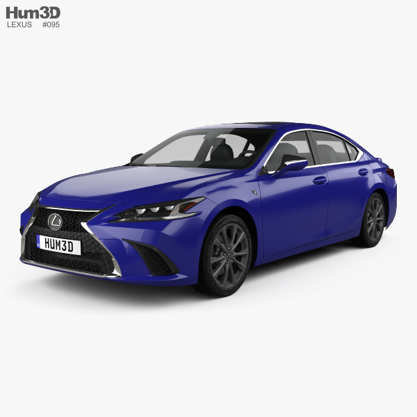Lexus Is 350 Sport: Lexus ES 350h F-sport 2019 3D Model