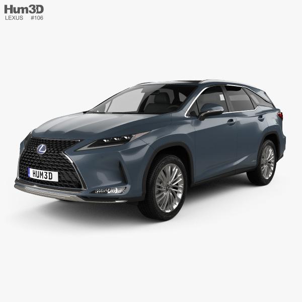 2019 Lexus Rx Hybrid: Lexus SUV 3D Models