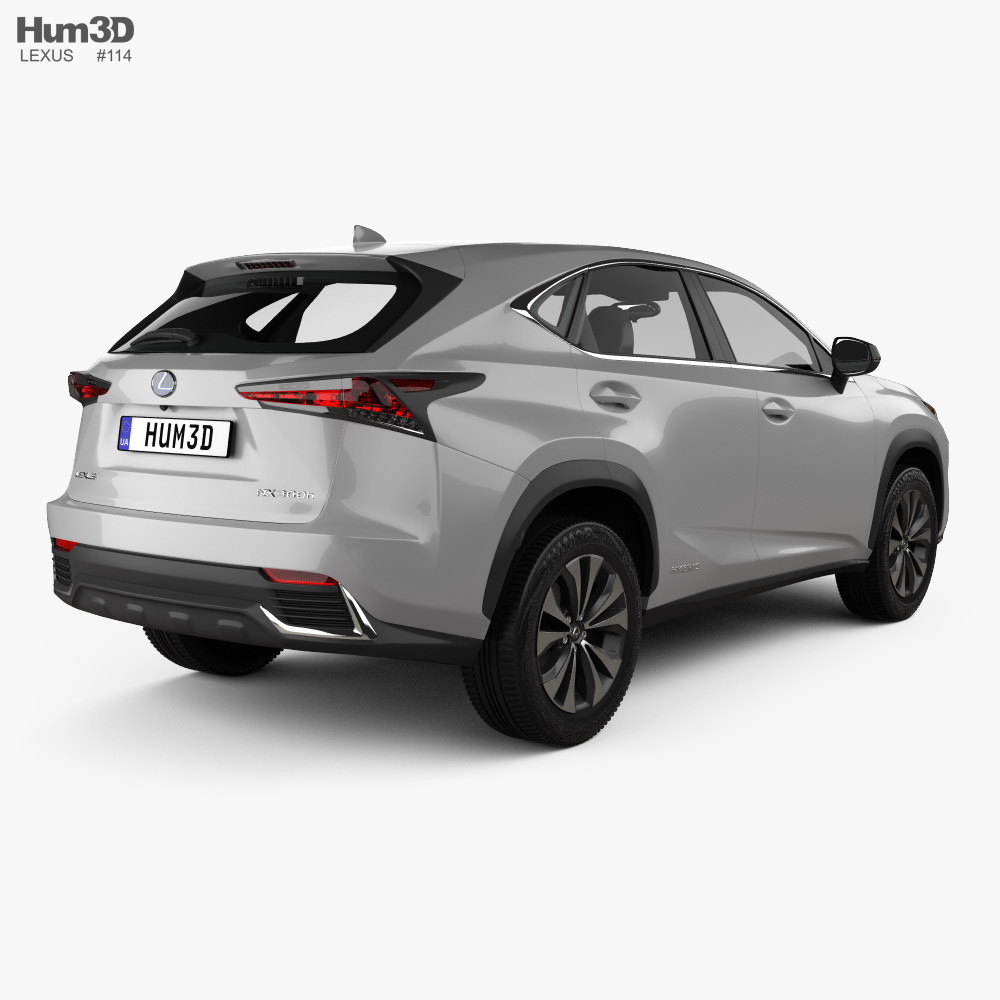 Lexus NX US-spec hybrid 2020 3d model