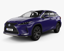 Lexus RX hybrid Executive 2020 3D model