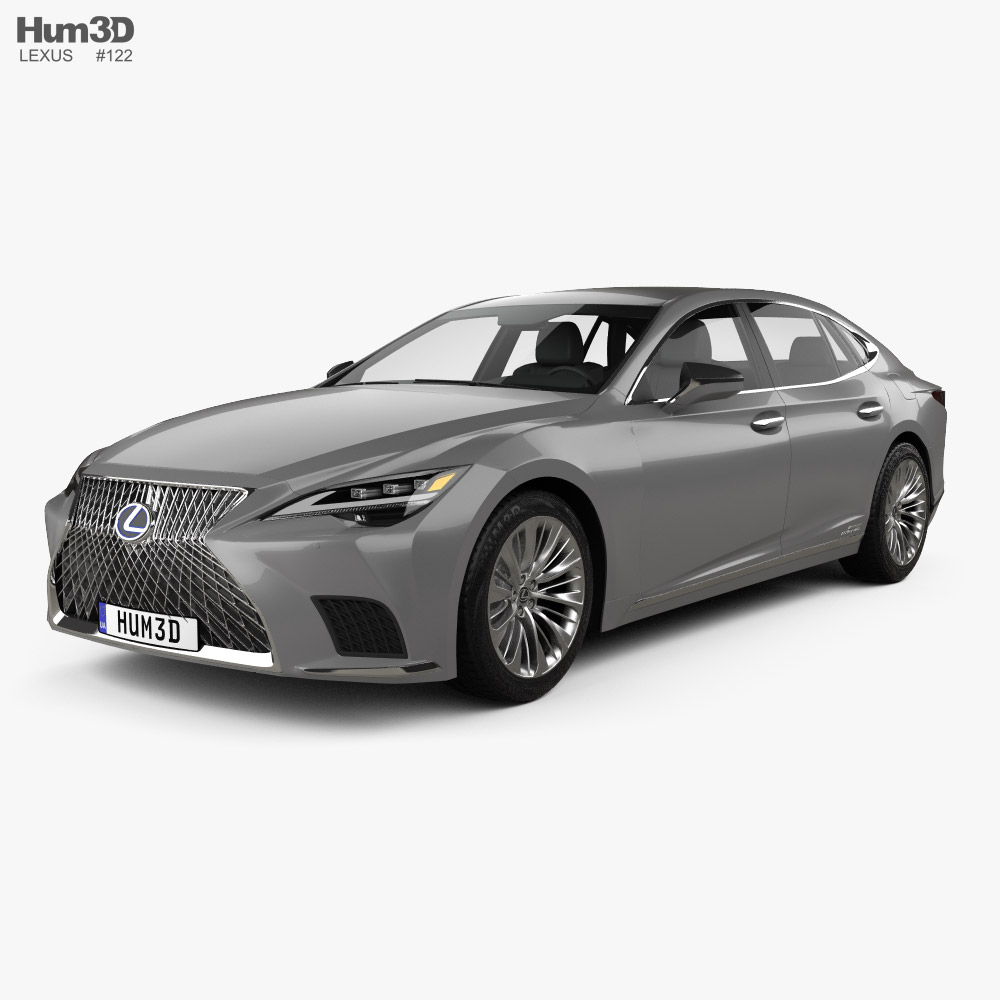 Lexus LS hybrid 2021 3d model