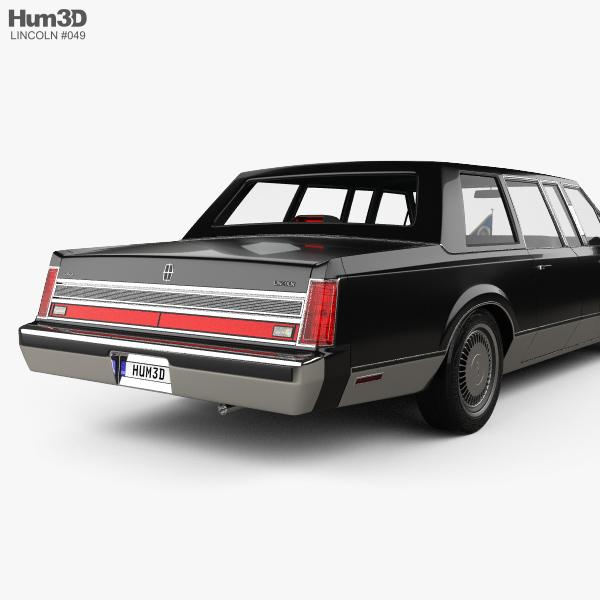 Lincoln Town Car Presidential Limousine 1989 3D Model