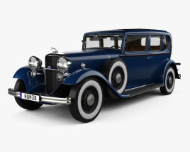 Lincoln KB Limousine with HQ interior 1932 3D model