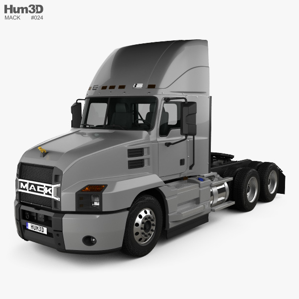2018 Mack Truck Tractor : Mack anthem day cab high rise tractor truck d model