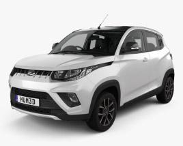 Mahindra KUV 100 with HQ interior 2018 3D model