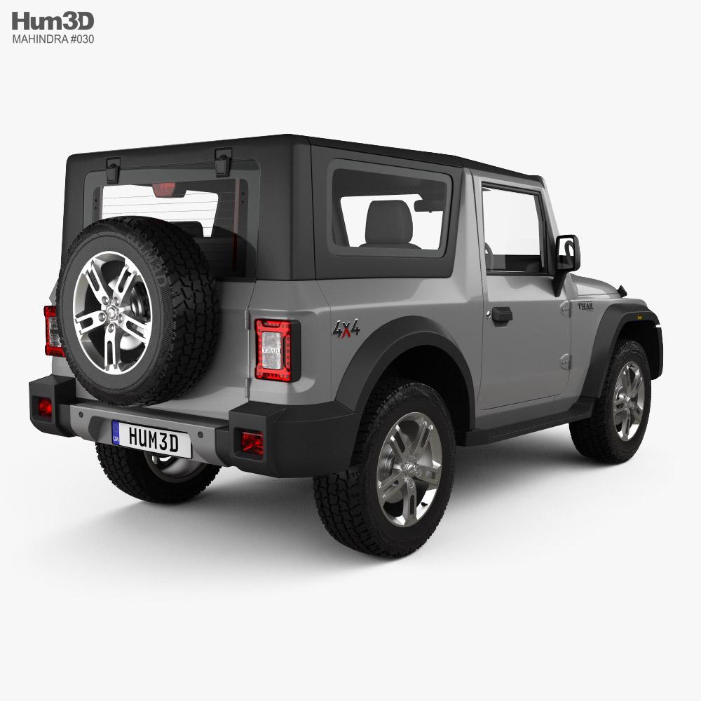 Mahindra Thar 2020 3d model