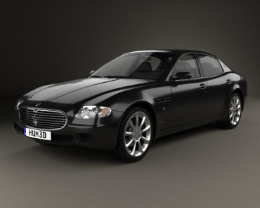3D model of Maserati Quattroporte 2012