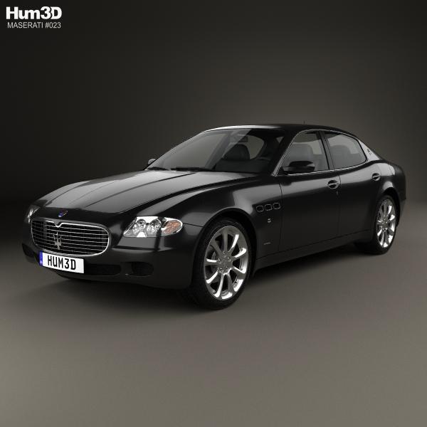 2012 Maserati Quattroporte Interior: Maserati 3D Models