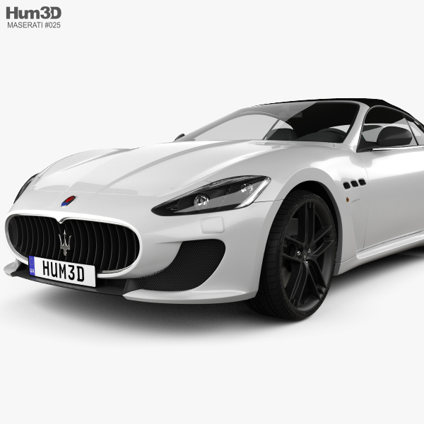 Maserati GranCabrio MC 2013 3D model - Hum3D