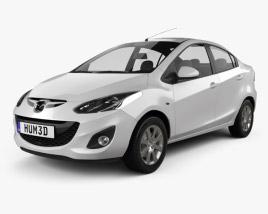 Mazda 2 Sedan 2011 3D model