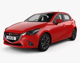 Mazda Demio 5-door hatchback 2014 3D model