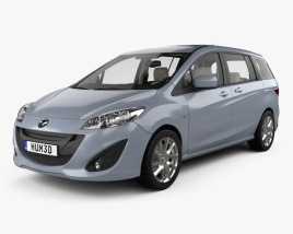 Mazda 5 with HQ interior 2010 3D model