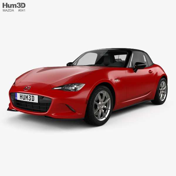 mazda mx 5 2015 3d model vehicles on hum3d. Black Bedroom Furniture Sets. Home Design Ideas