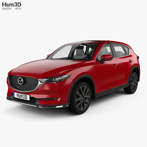 Mazda CX 5 (KF) With HQ Interior 2017 3d Model ...