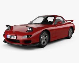 Mazda RX-7 with HQ interior 1992 3D model