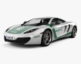 McLaren MP4-12C Police Dubai 2013 3D model