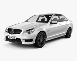 Mercedes-Benz C-Class 63 AMG sedan 2012 3D model