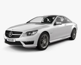 Mercedes-Benz CL-Class 65 AMG 2012 3D model