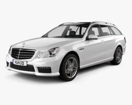 Mercedes-Benz E-class 63 AMG estate 2010 3D model