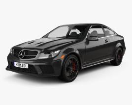 Mercedes-Benz C-Class 63 AMG Coupe Black Series 2012 3D model