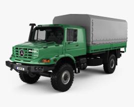 Mercedes-Benz Zetros Flatbed Truck 2-axle 2008 3D model