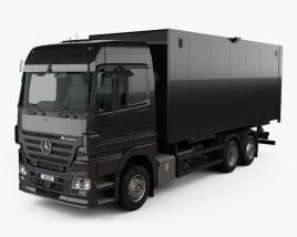 Mercedes-Benz Actros Box Truck 2002 3D model