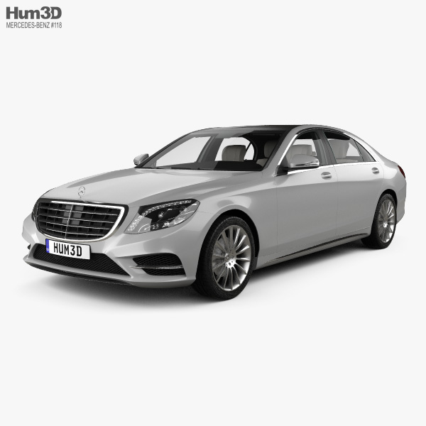 Mercedes-Benz S-Class (W222) With HQ Interior 2014 3D