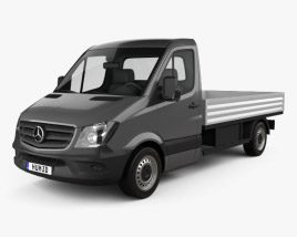 Mercedes-Benz Sprinter Drop Side Single Cab 2013 3D model