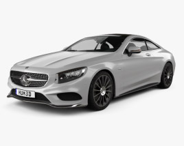 Mercedes-Benz S-Class (C217) coupe AMG Sports Package 2014 3D model