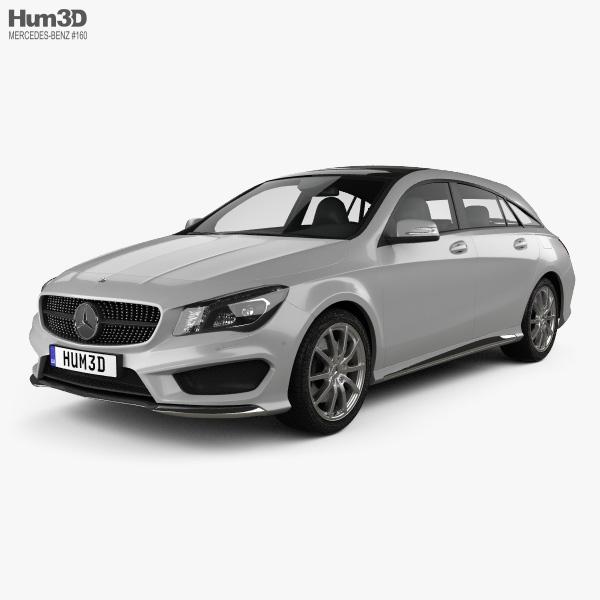 Mercedes Benz Cla: Mercedes-Benz CLA-Class (C117) Shooting Brake 2014 3D