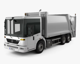 Mercedes-Benz Econic Garbage Truck Rolloffcon 3axle 2009 3D model