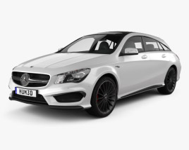 Mercedes-Benz CLA-Class (C117) ShootingBrake AMG 2014 3D model
