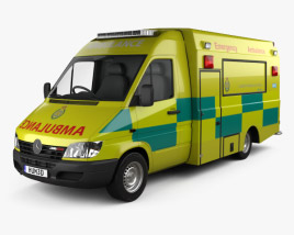 Mercedes-Benz Sprinter (W903) Ambulance 2000 3D model