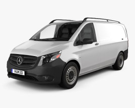Mercedes-Benz Metris Panel Van with HQ interior 2014 3D model
