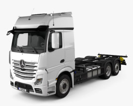 Mercedes-Benz Actros Chassis Truck 3-axle 2011 3D model