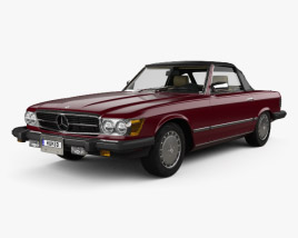 Mercedes-Benz SL-Class (R107) (US) 1974 3D model