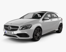 Mercedes-Benz A-Class (W176) AMG Line 2016 3D model
