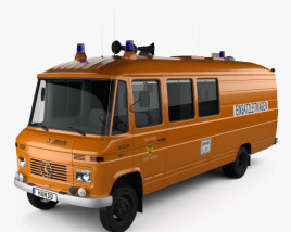 Mercedes-Benz L 508 D Emergency Command Vehicle 1978 3D model