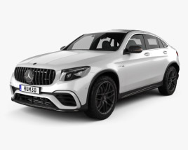 Mercedes-Benz GLC-Class (C253) Coupe S AMG 2017 3D model