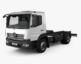 Mercedes-Benz Atego S-Cab Chassis Truck 2013 3D model