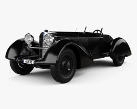 Mercedes-Benz 710 SSK Trossi Roadster 1930 3D model