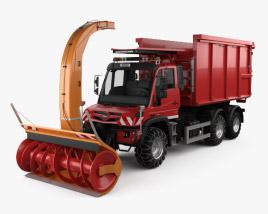 Mercedes-Benz Unimog U530 Paul Snow Plow Truck 2016 3D model