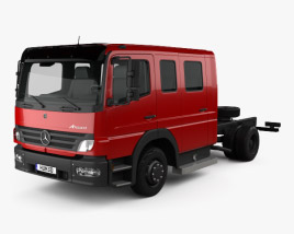 Mercedes-Benz Atego Crew Cab Chassis Truck 2004 3D model