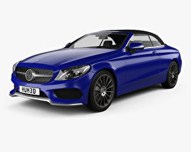 Mercedes-Benz C-class (A205) convertible AMG line 2016 3D model